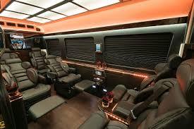 sprinter rv bus and limo seating options
