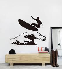 chambre surf surfer planche de surf stickers muraux stickers amovible bricolage