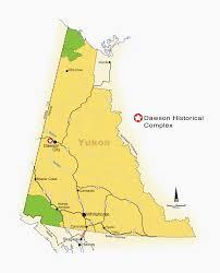 Yukon River Map Parks Canada Klondike National Historic Sites Of Canada Dawson