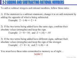 adding and subtracting rational numbers worksheets lesson 2 2 adding and subtracting rational numbers