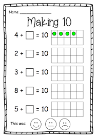 year 1 making 10 maths worksheet by nikkiw 267 teaching