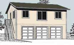 3 Car Garage Plans With Apartment Above Ezgaragegambrel