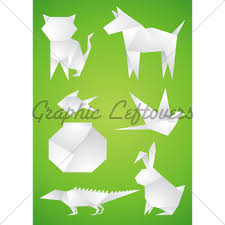Origami Pets - pets made of paper 盞 gl stock images