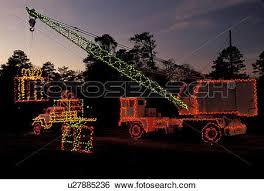 stock images of crane georgia ga atlanta colorful christmas
