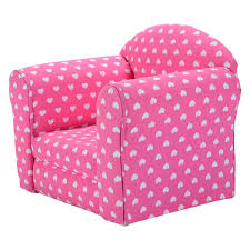 Kids Room Couch by Amazon Com Pink With White Hearts Kids Sofa Armchair Armrest