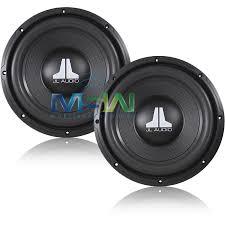 jl audi 2 jl audio 10wxv2 10 single 4 ohm wxv2 series car subwoofers pair