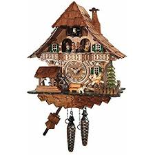 traditional cuckoo clock black forest house with