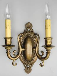 edwardian u0027fancy u0027 wall sconce double arm