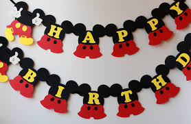 mickey mouse birthday mickey birthday decorations mickey mouse birthday banner 1st