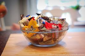 halloween candy gift basket leftover halloween candy trifle a small snippet