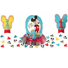 mickey mouse 1st birthday baby mickey mouse 1st birthday party table decoration kit