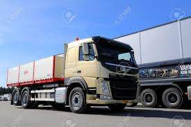 new volvo truck lieto finland april 5 2014 volvo trucks presents the fm