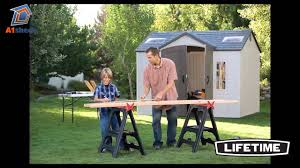 Lifetime Products Gable Storage Shed 6402 by Lifetime 10x8 Plastic Shed Youtube