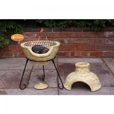 Red Clay Chiminea Buy Gardeco Cozumel Two Part Bbq Clay Chiminea Yellow