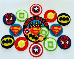 superman cake toppers cupcake toppers x 12 and cake topper kit batman