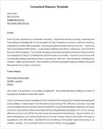Hr Consultant Resume Sample by Consultant Resume Template U2013 9 Free Samples Examples Format