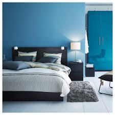 malm bed frame high black brown luröy standard double ikea