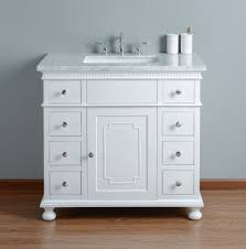 36 Inch Bathroom Vanities by Stufurhome Abigail Embellished 36 Inches White Single Sink