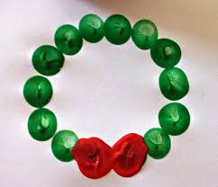 cute fingerprint christmas wreath craft for kids crafty morning