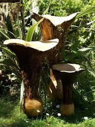 contemporary wooden chanterelle garden decoration ornaments