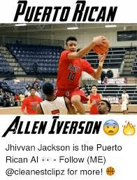 Allen Iverson Meme - puerto hican allen iverson jhivvan jackson is the puerto rican ai
