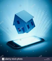 home automation background intelligent house concept stock photo