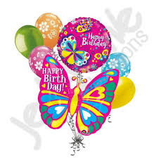 butterfly balloons bright colorful happy birthday butterfly balloon bouquet