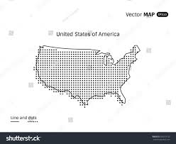 Untied States Of America Map by Vector Dotted United States America Map Stock Vector 653519752