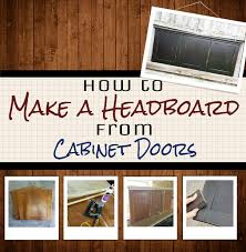 easy diy cabinet doors make a simple headboard from cabinet doors folk twins and doors