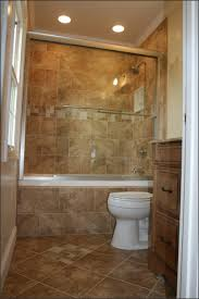walk in shower with tub bathroom small bathroom remodel on budget brown ceramic tile