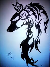 she wolf tribal tattoo by jaguarcliff on deviantart
