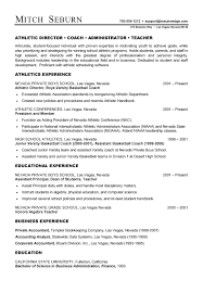 Statistician Resume Sample by Coach Resume Example Sample