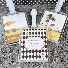 luggage tag favors elite design personalized acrylic luggage tag wedding favors