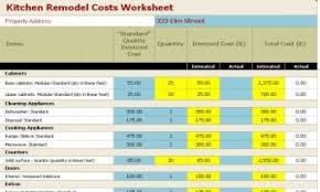 Remodeling Kitchen Cost Kitchen Remodel Worksheet Home Design