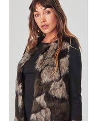 bb dakota lyst bb dakota genevieve faux fur vest in brown