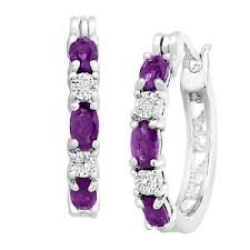 amethyst earrings february birthstone amethyst earrings w diamonds in