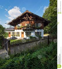 country house in alpine village royalty free stock photo image