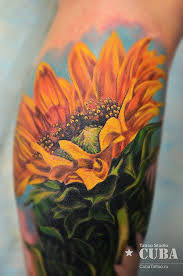 10 cool sunflower tattoo designs and images for women