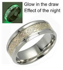 wedding ring for celtic rings for men women stainless steel