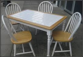 tile table top makeover white tile table tile top table makeover updating a tile top table