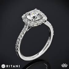 halo engagement ring settings ritani set cushion halo band engagement ring 3378