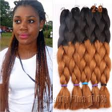 Black To Brown Ombre Hair Extensions by Aliexpress Com Buy Ombre Purplebox Braids Hair Synthetic Purple