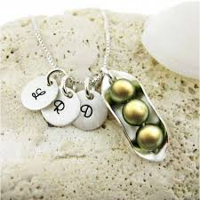 peas in a pod charm jc jewelry design three peas in a pod necklace with three initial