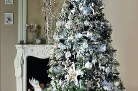 silver christmas blue and silver christmas tree decorations mesmerizing silver tree