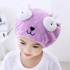 cap towels are useful to dry kids and adults hair after shower