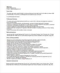 biomedical engineer resume sle biomedical engineer resume 9 free documents in