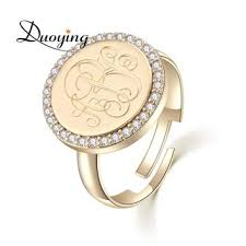 Monogramed Rings Shop Monogram Name Rings On Wanelo