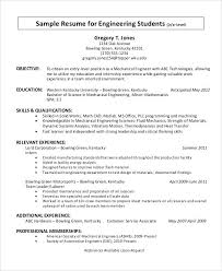 electrical engineering resume for internship resume objective statement engineering mechanical engineer resume