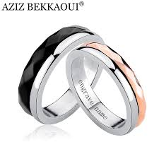 name wedding rings images Aziz bekkaoui customized name wedding rings stainless steel jpg