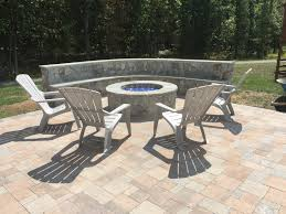 paver patio edging options hanover paver patio stone seating wall bench outdoor gas fire pit